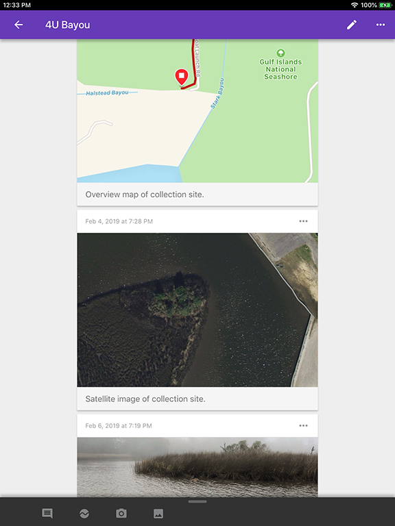Figure 9 - Fill your Google Science Journal with graphs, photographs, notes, and your recorded environmental data