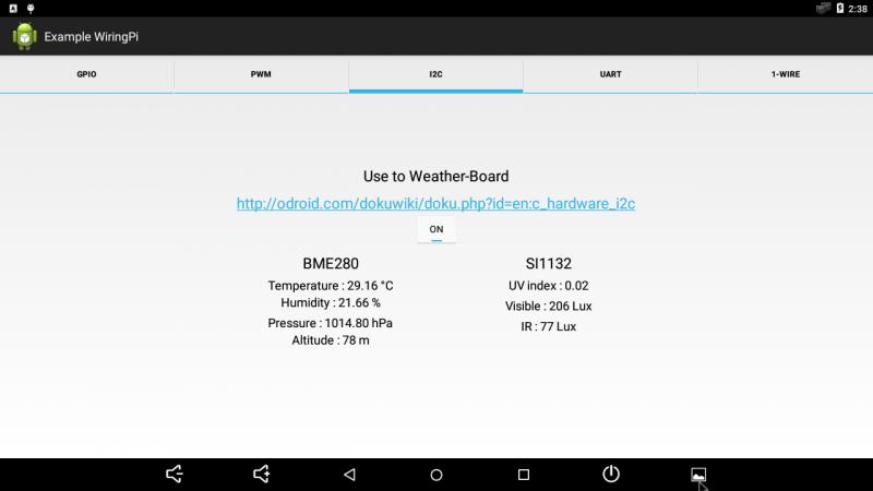 Figure 14 - Hardkernel's Weather Board measures environmental statistics