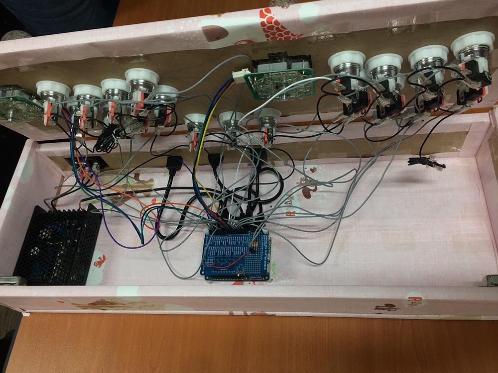 Figure 8 – ODROID Arcade Box Wiring