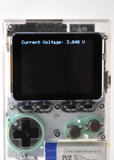 Figure 1 - The ODROID-GO has a ~3.7V battery module