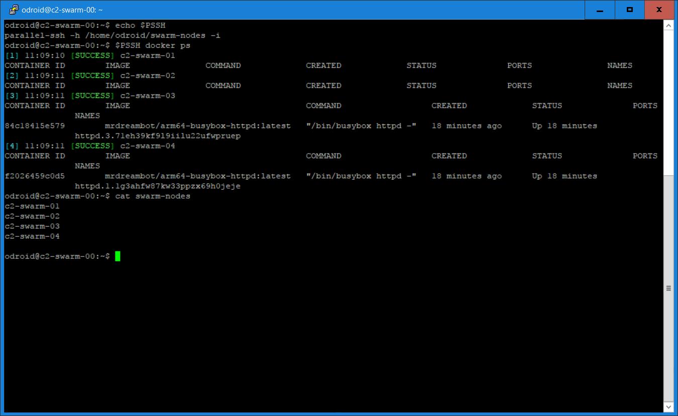 My ODROID-C2 Docker Swarm: Part 1 - Swarm Mode Features   ODROID