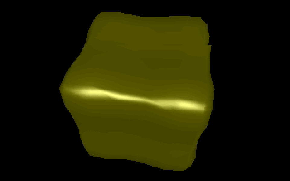 Figure 1 - Spinning cube under DOS