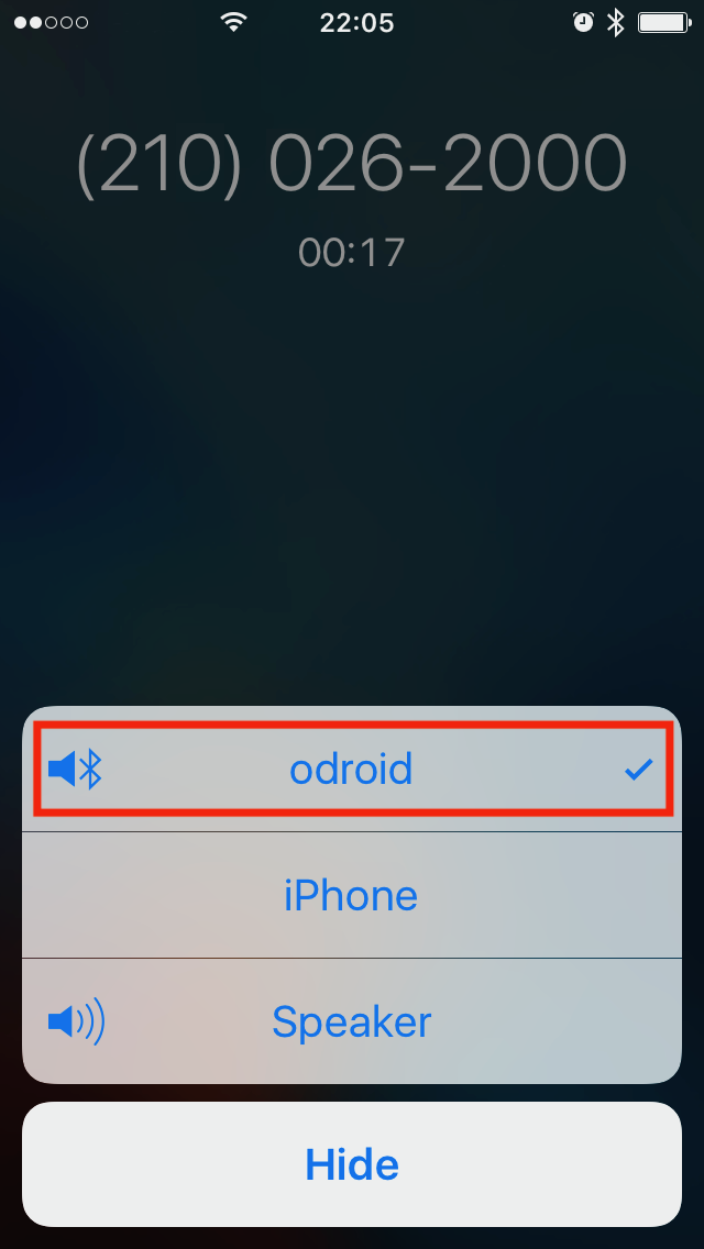 ODROID Magazine Figure 6 - Testing the microphone during a phone call using the iPhone