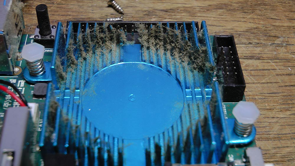 Figure 1 - The ODROID-XU4 heatsink needs to be maintained when operating in a dusty environment
