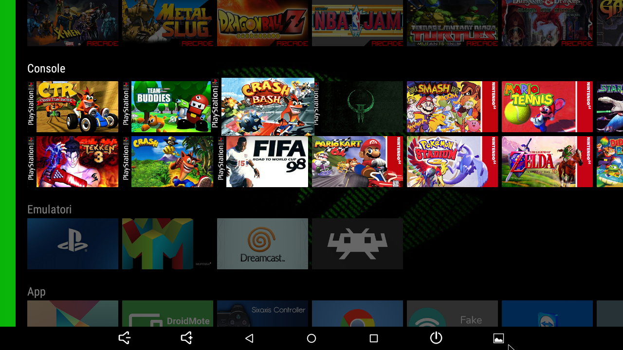 Figure 7 - Gaming links on Home Screen