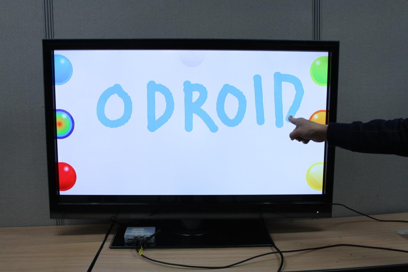 "Figure 4 - 42"" touch screen connected to an ODROID-XU"