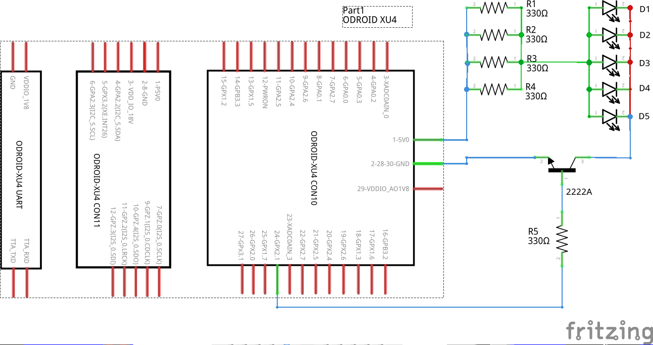 Home Assistant : Using Infrared, Motors, and Relays: Figure 03 - Fritzing circuit diagram of IR blaster