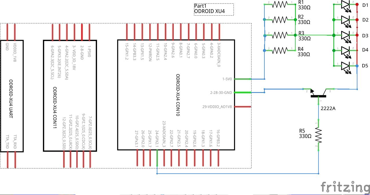 Figure 3 - Circuit diagram of IR blaster