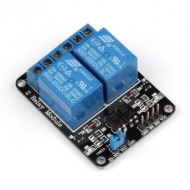Home Assistant : Using Infrared, Motors, and Relays: Figure 6 - SainSmart 2 Channel Relay