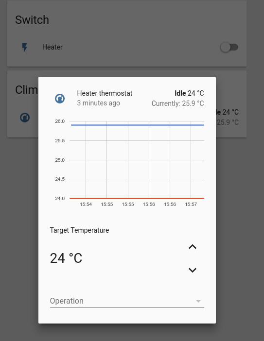 Home Assistant : Using Infrared, Motors, and Relays: Figure 9 - Thermostat