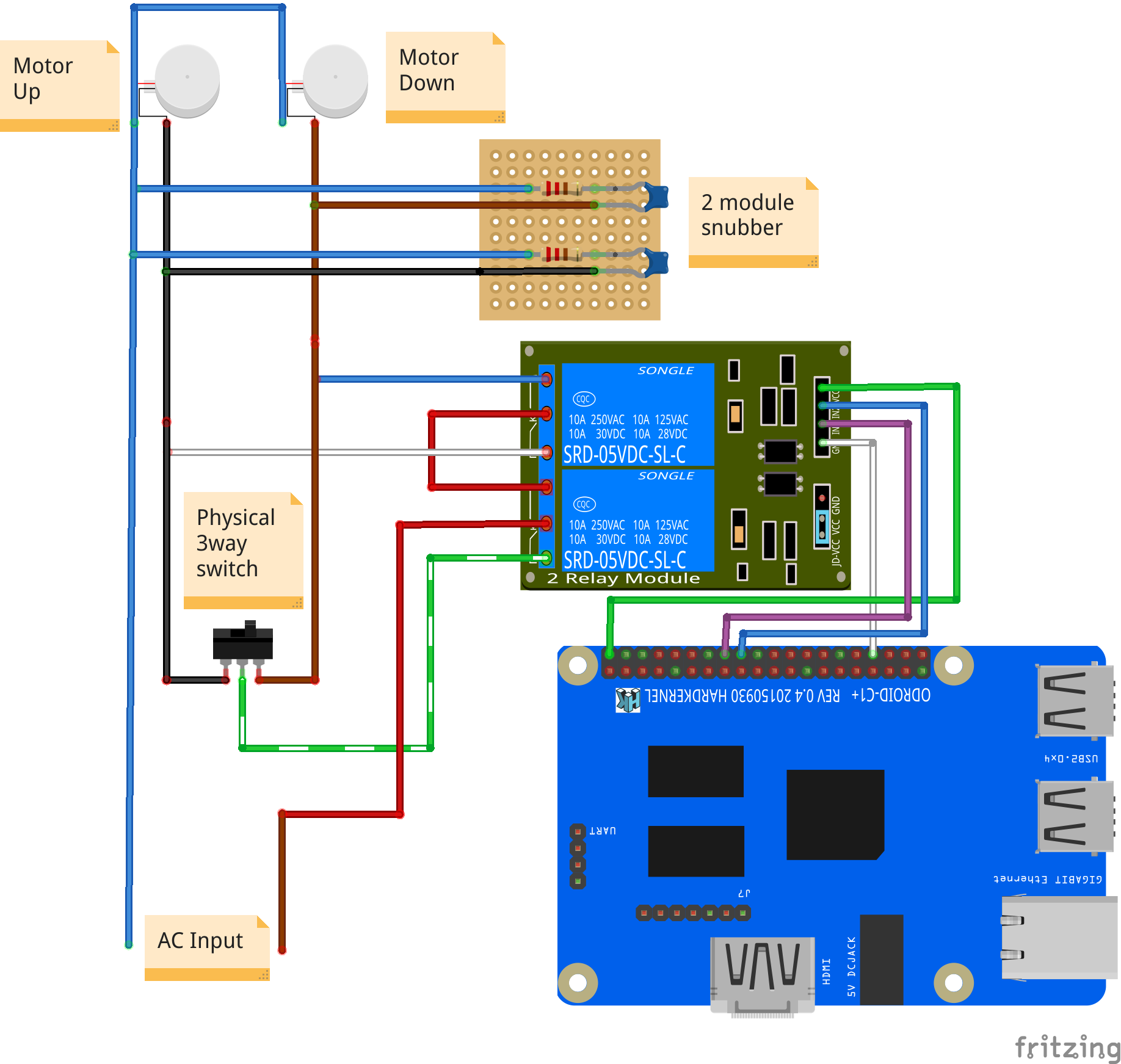 Home Assistant : Using Infrared, Motors, and Relays: Figure 10 Controlling a window blind motor