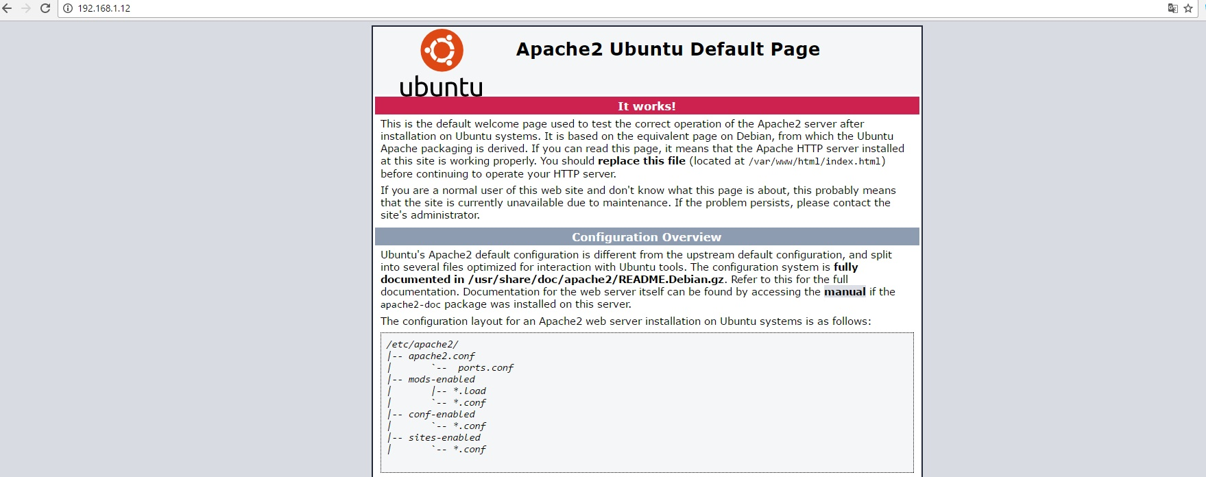 Figure 3 - Apache test