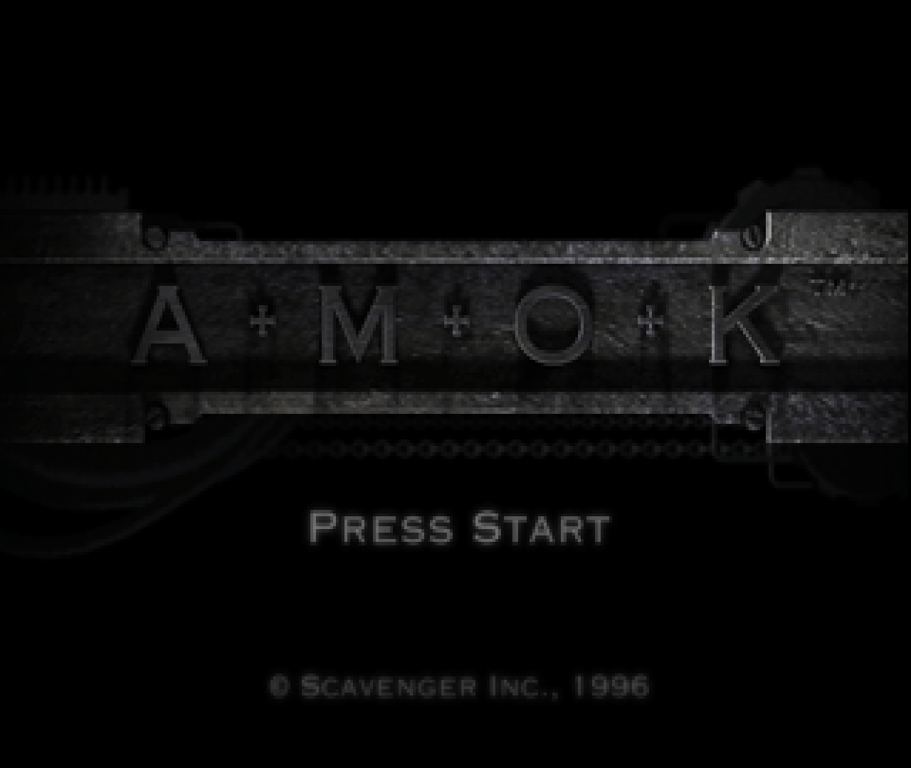 Figure 1 - Amok Start screen for the Sega Saturn