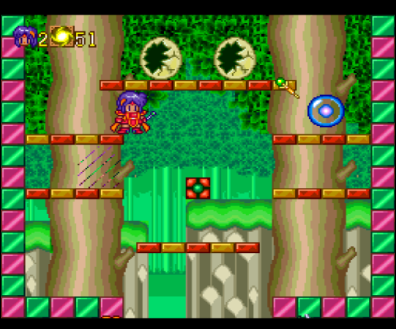 Figure 1 - Pop'n Magic has very colorful graphics and is also very child-friendly