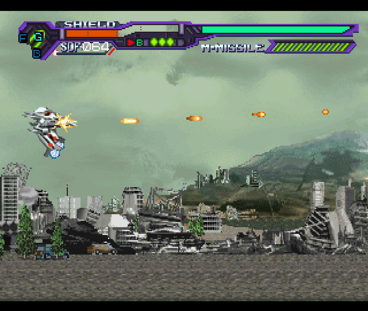 Figure 2 - Macross has three fighter stages, each with their own strengths and weaknesses