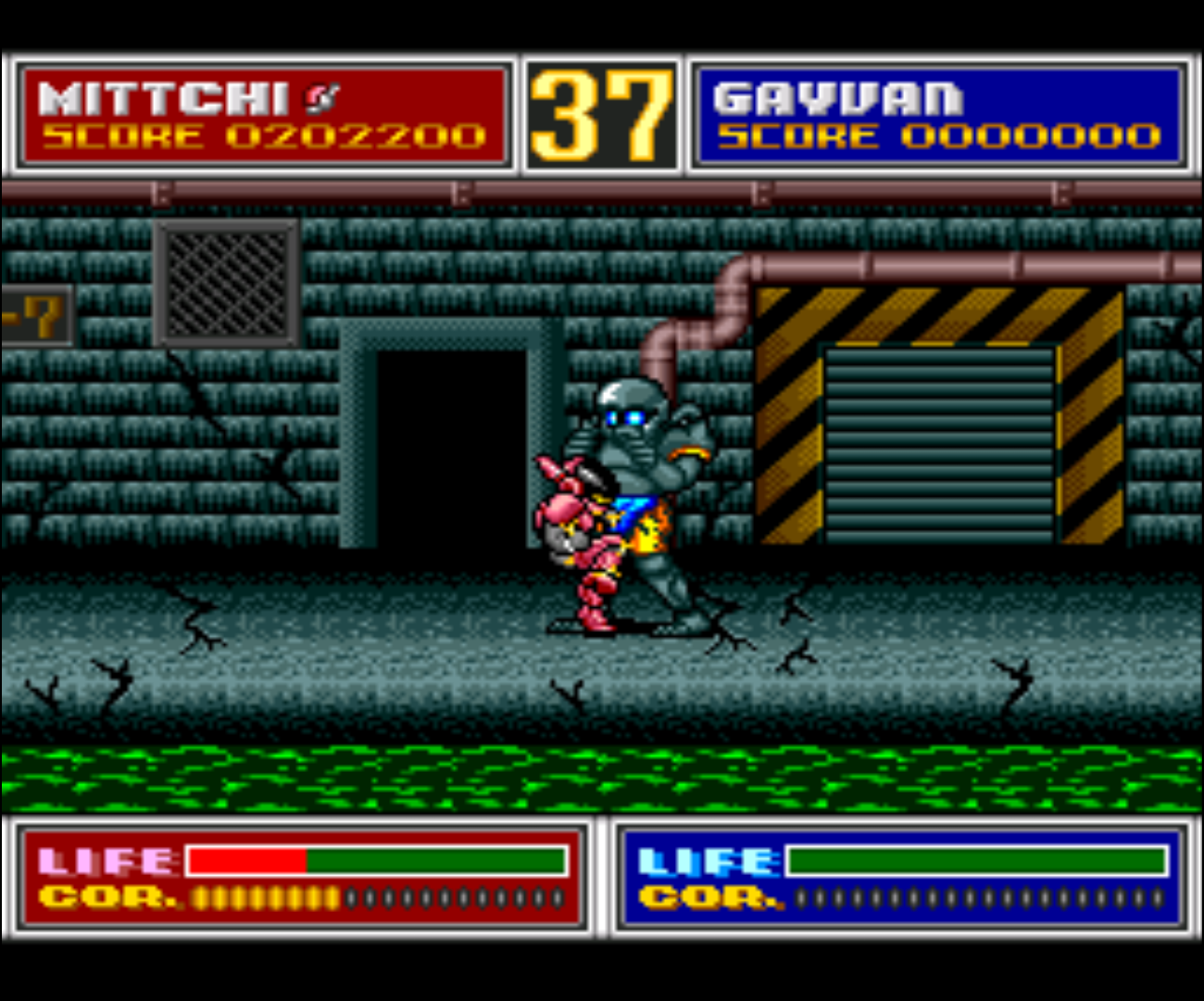 Figure 2 - A boss fight at the end of each level as in every good beat 'em up