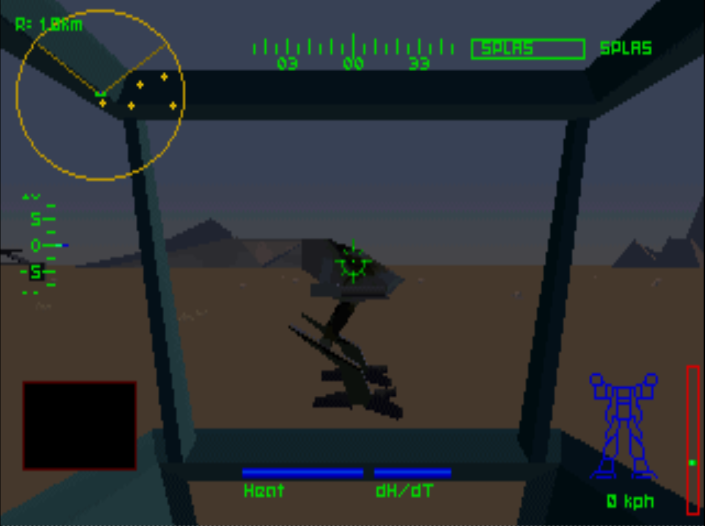 Figure 3 - Mech Warrior 2 with 320x240 resolution