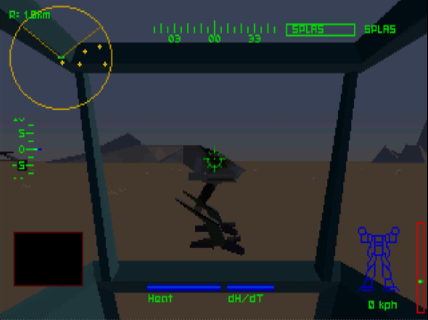 Figure 3 - Mech Warrior 2 with 320x240 resolution