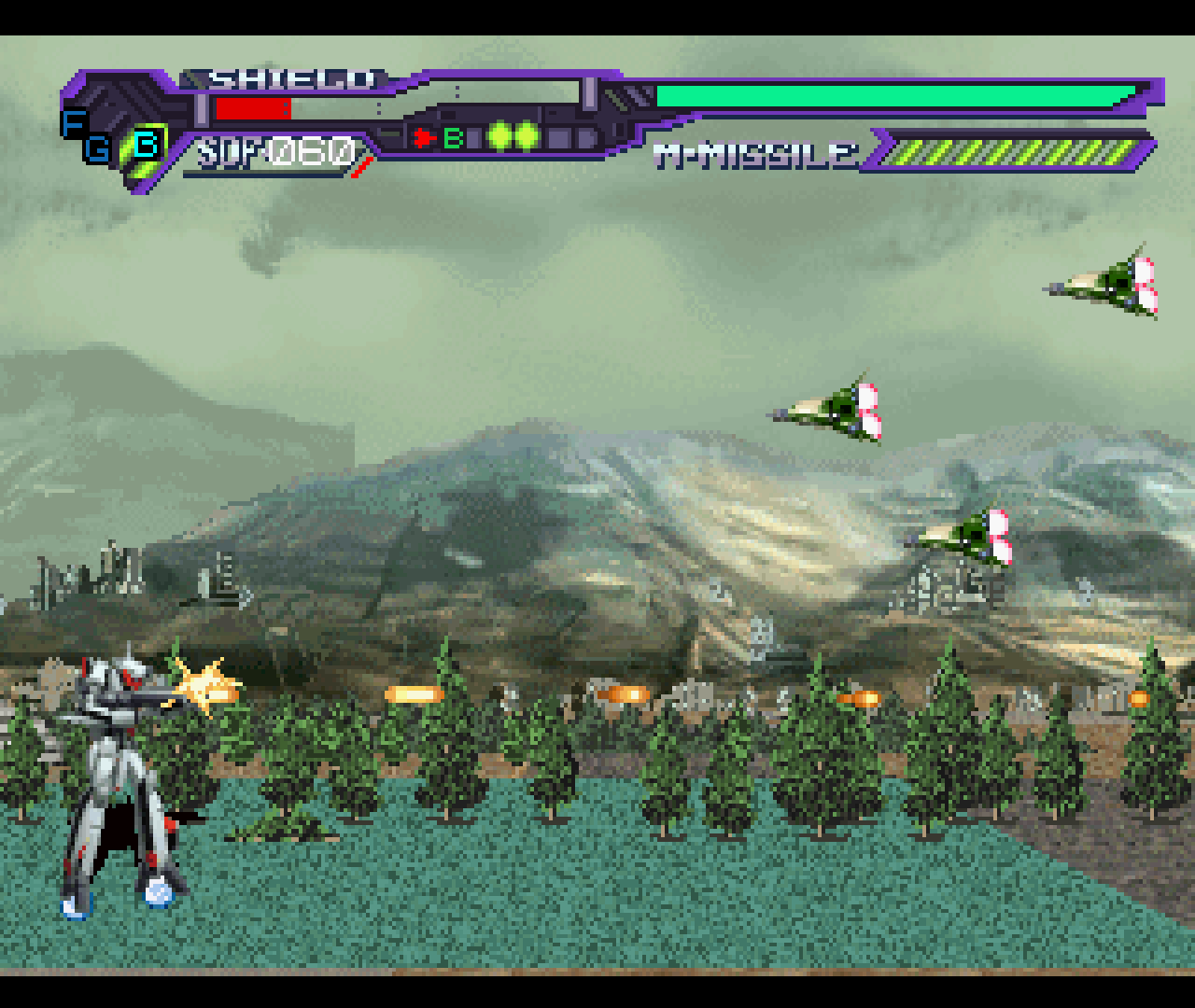 Figure 3 - Macross has three fighter stages, each with their own strengths and weaknesses