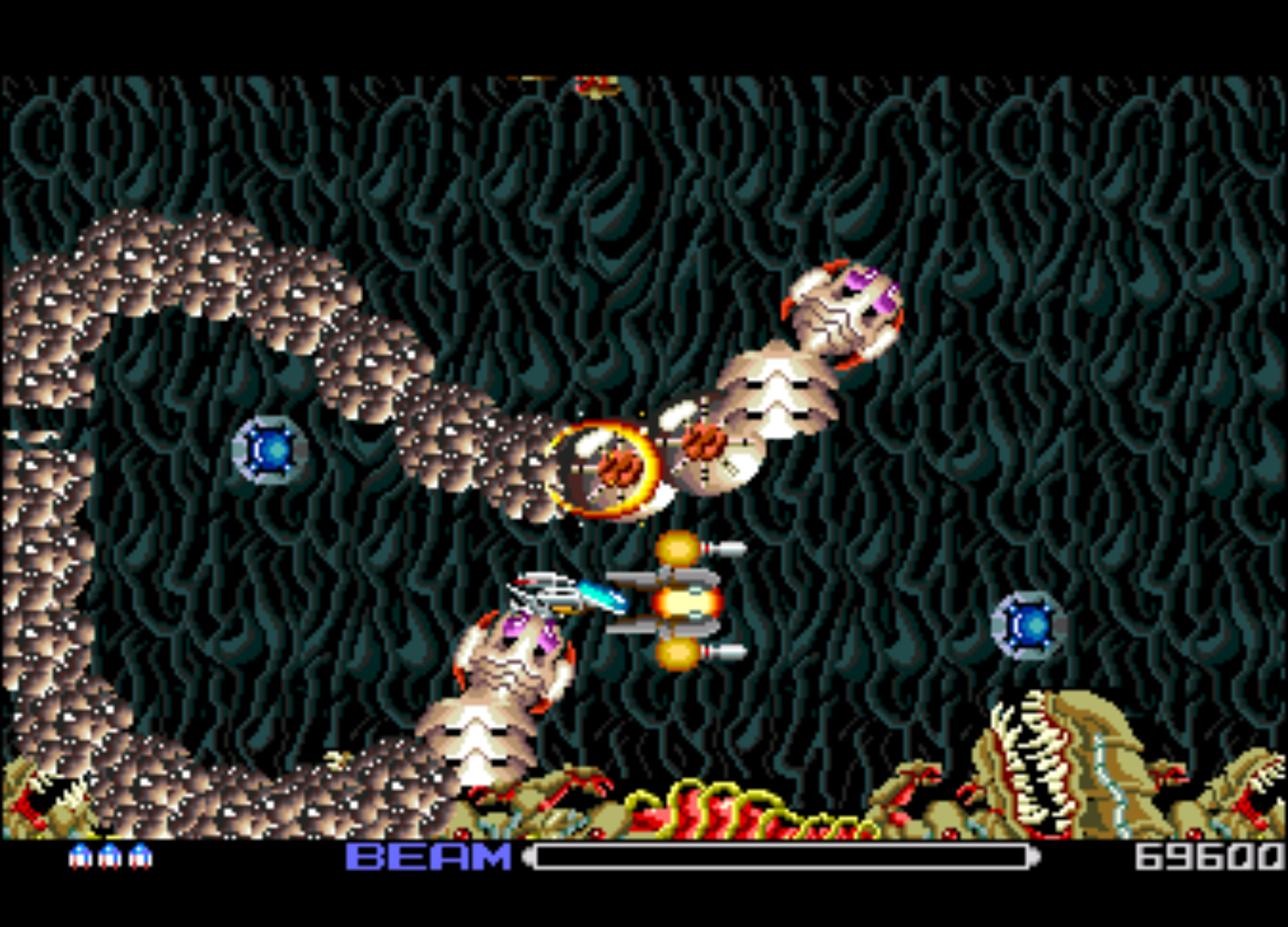 Figure 3 - R-Type actually plays in widescreen on the PC-Engine