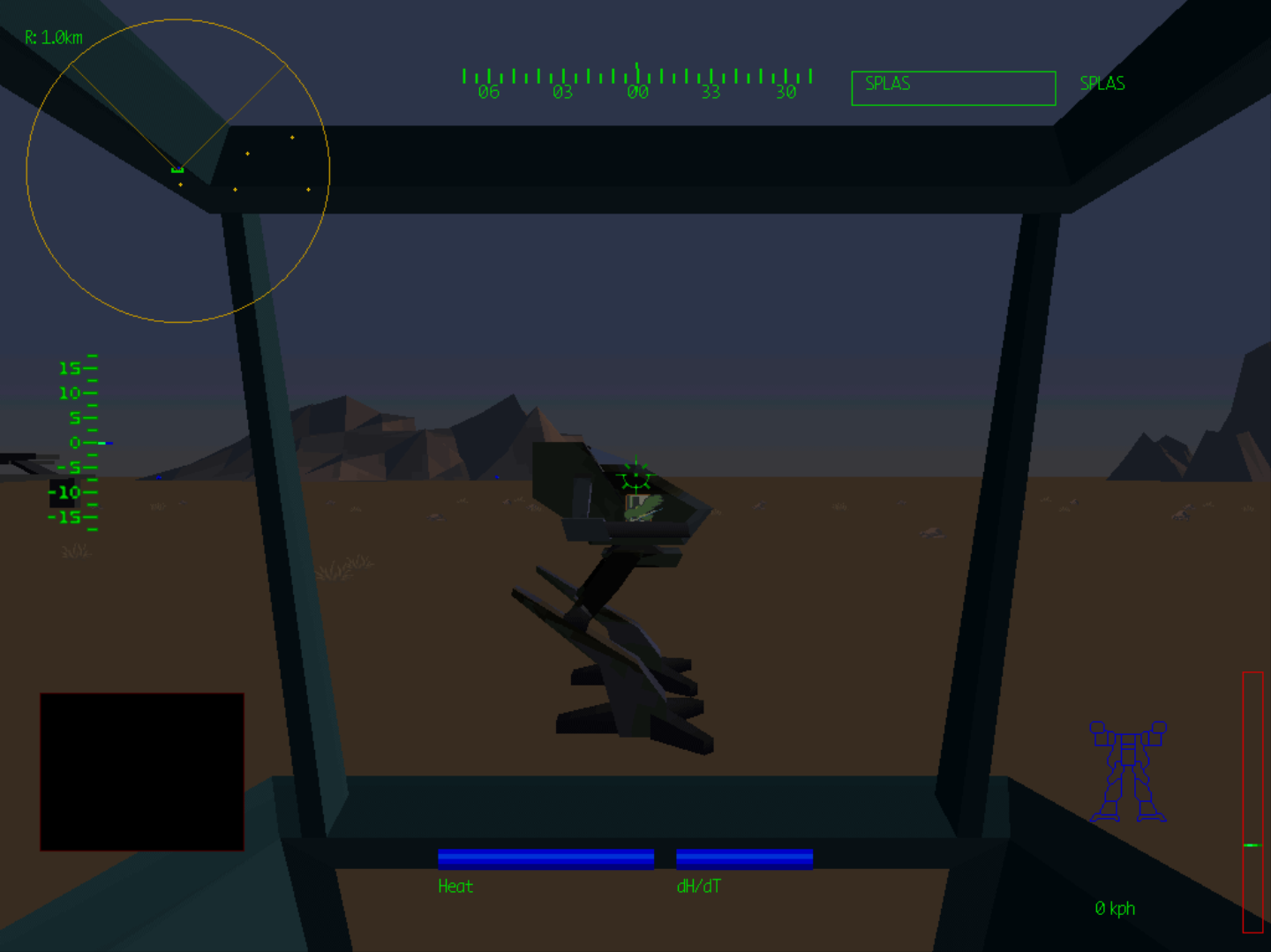 Figure 4 - Mech Warrior 2 with 1024x768 resolution