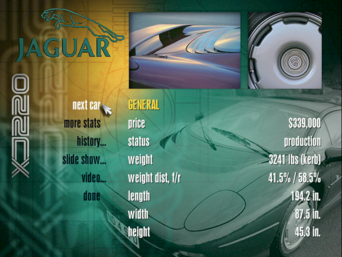 ODROID Magazine Figure 4 - Select a showcase to see information, look at pictures, and watch videos for each car