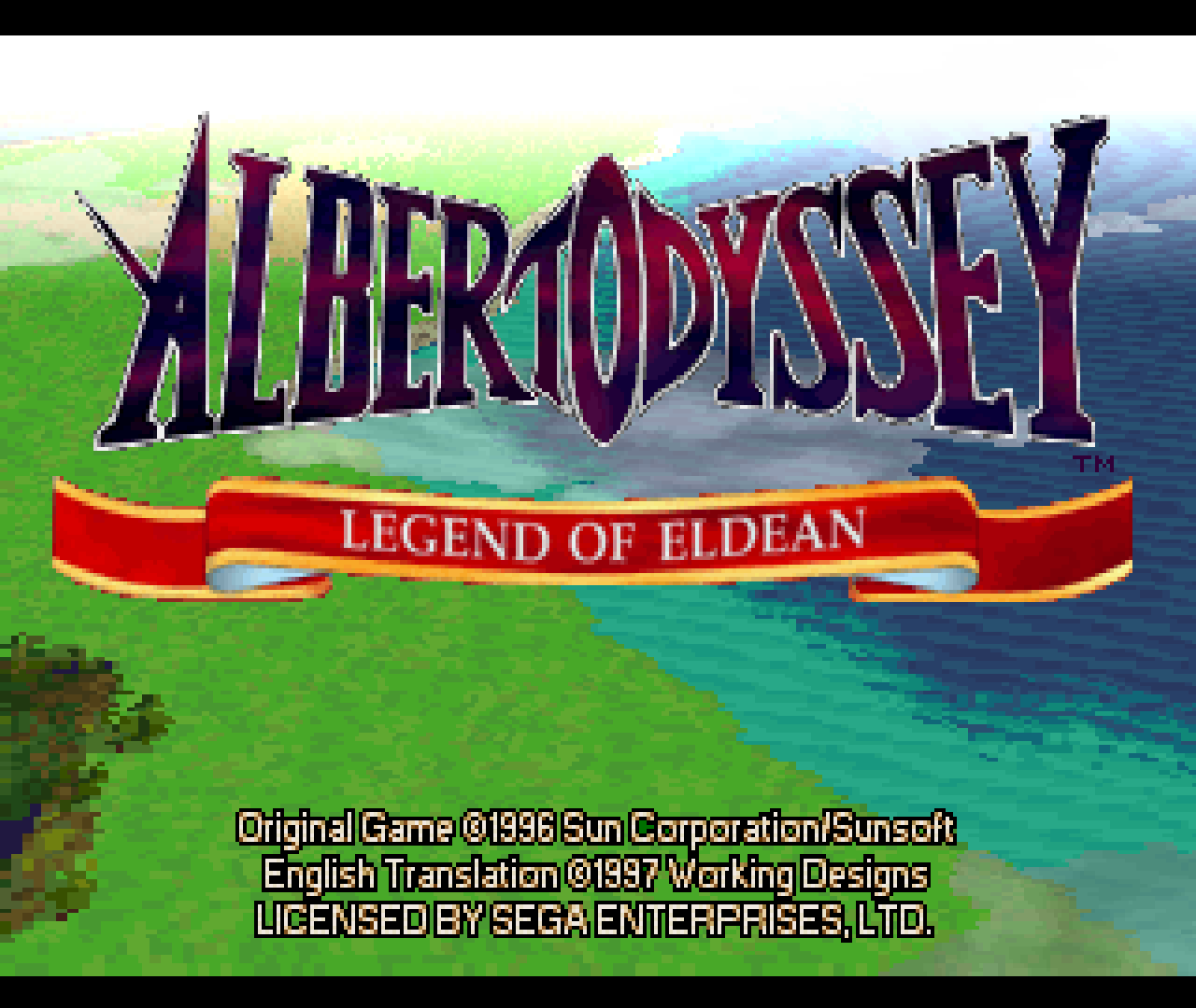 Figure 6 - Albert Odyssey start screen