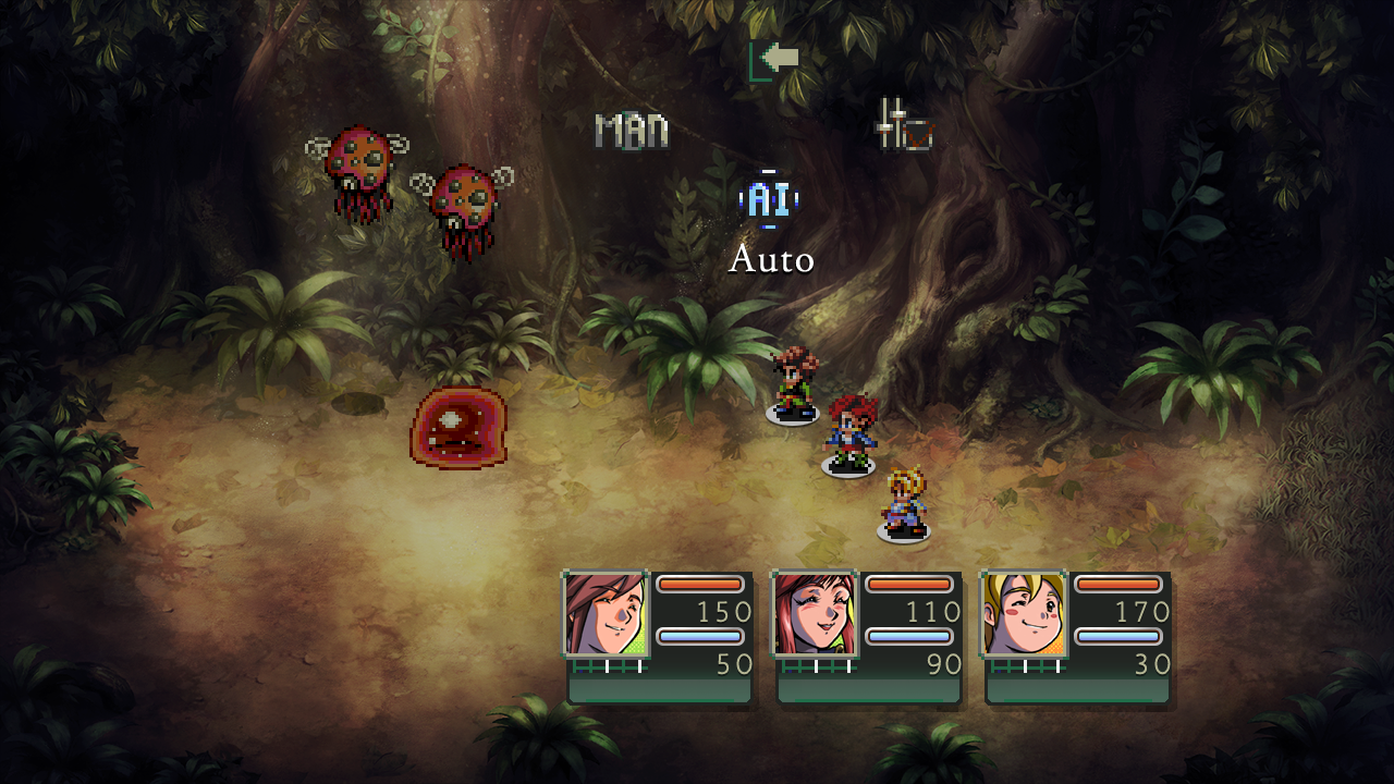 Figure 6 - You can select auto for AI based fights a faster way to finish a fight