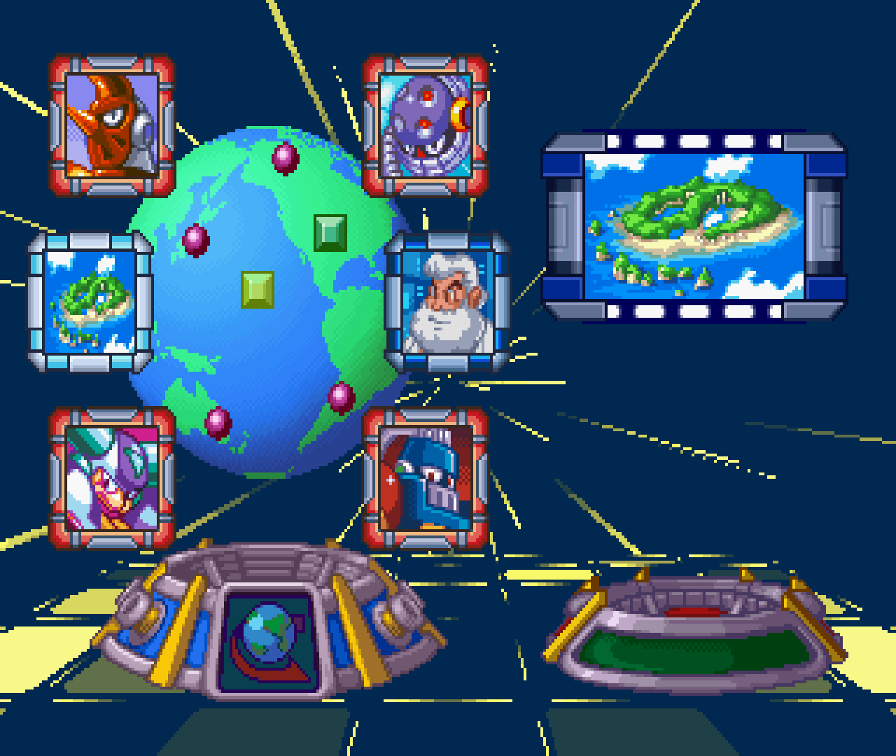 Figure 7 - The level select menu in Mega Man 8