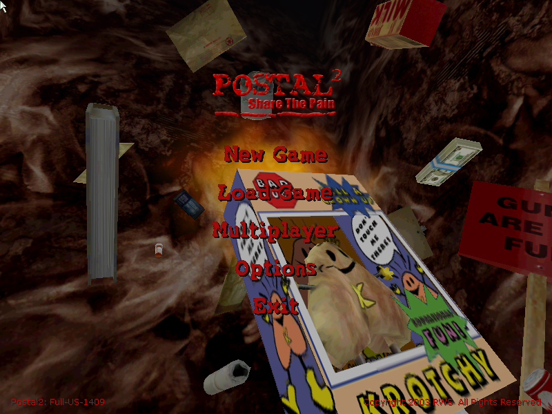 Figure 7 - Another full 3D game with a very strange theme