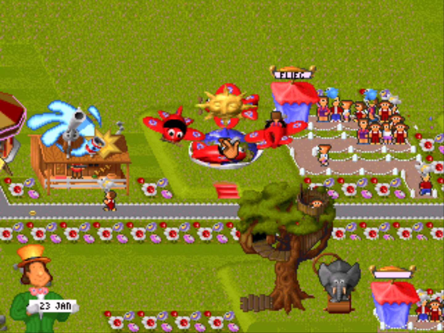 Figure 8 - The game has a big variety of different attractions and shops to choose from