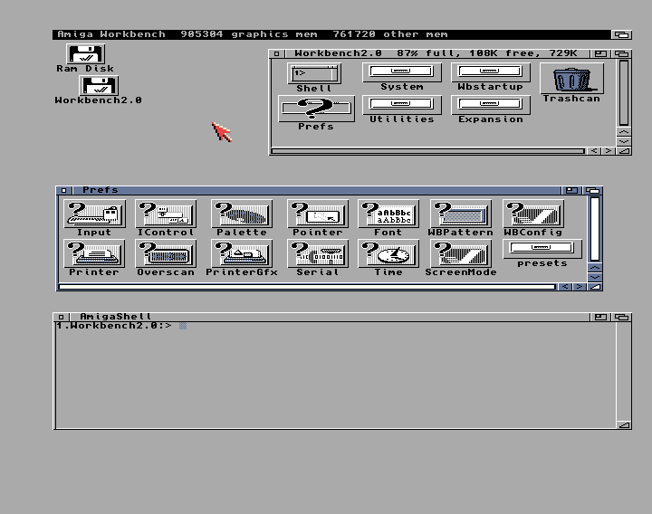 Figure 10 - A more streamlined Workbench 2.0 for the Amiga