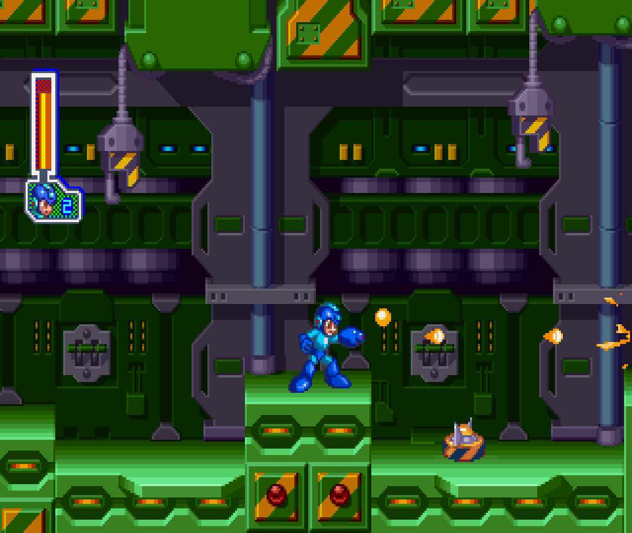 Figure 10 - There are different levels in Mega Man 8, including inside a machine dungeon