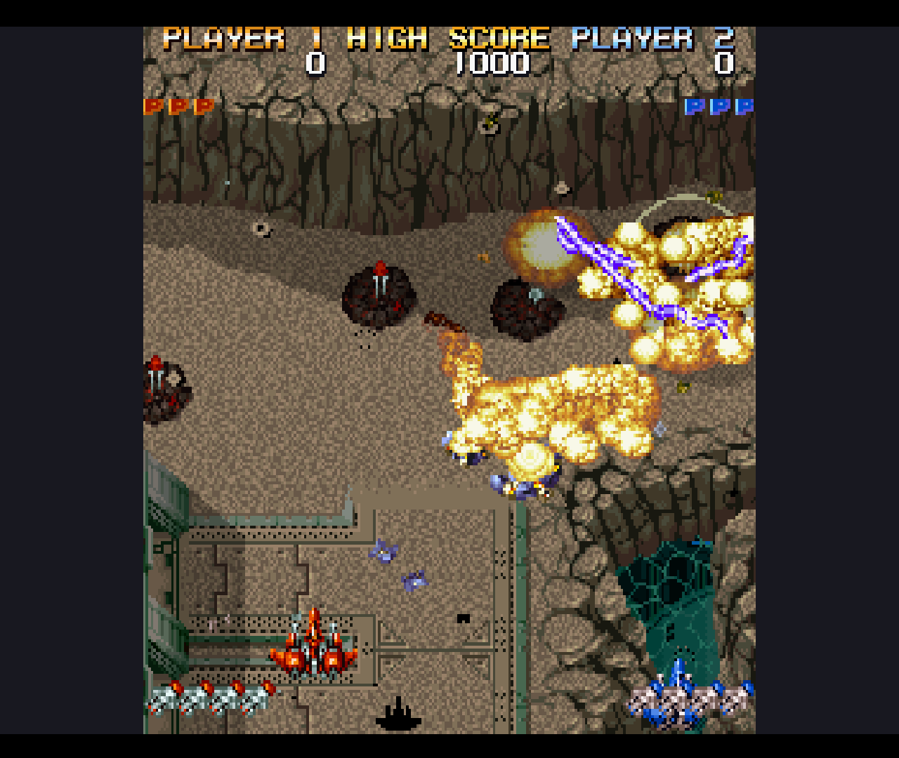Figure 10 - Very good looking graphics for up to two players lots of explosions on and enemies on the screen