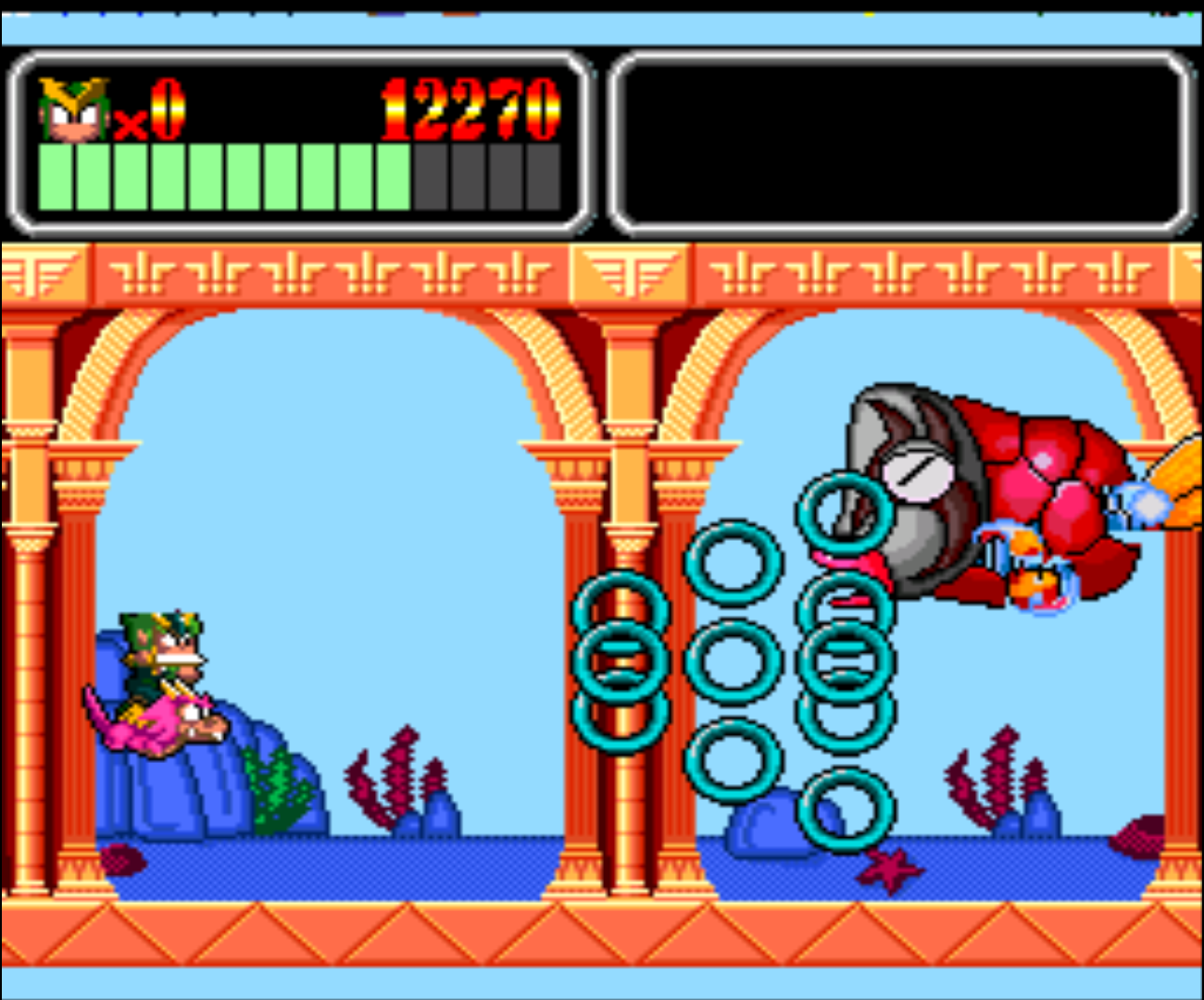 Figure 10 - Second stage of each level flying and boss fighting