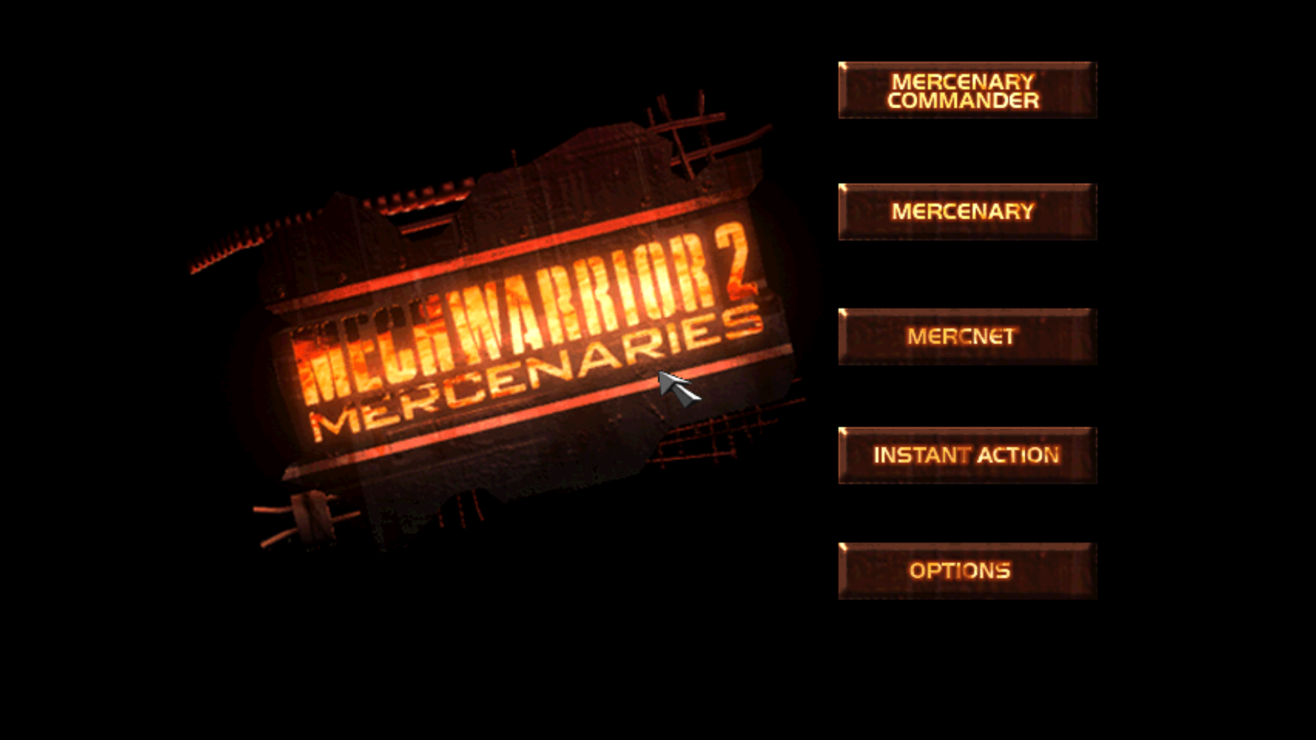 Figure 11 - Mercenaries is an official add-on for Mech Warrior 2, also available for DOS