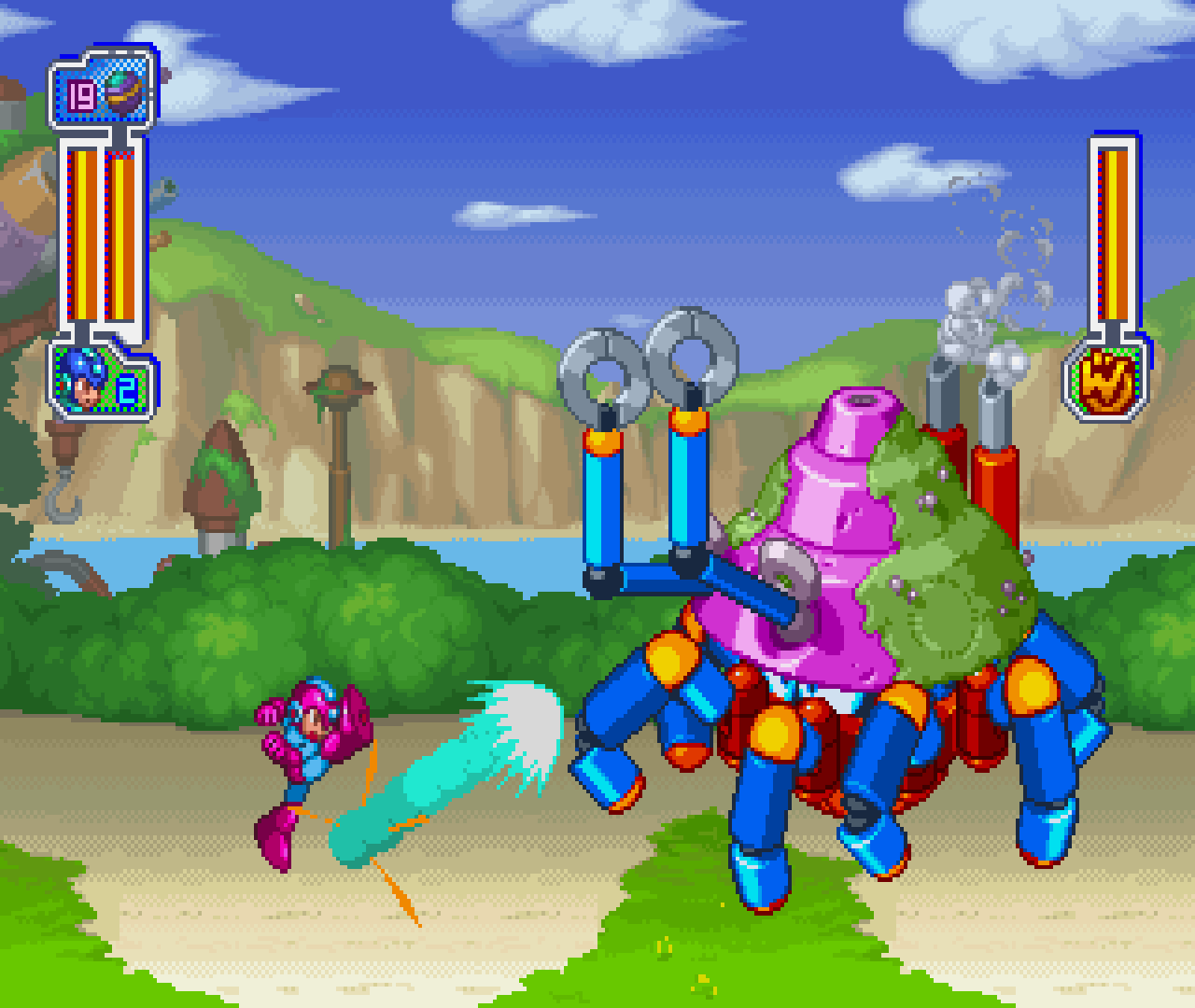 Figure 11 - No Mega Man game is complete without boss battles!
