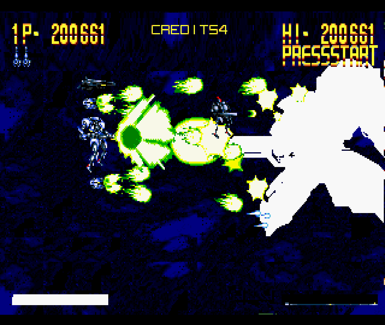 Figure 12 - In this game, it's not just the enemies who can shoot hundreds of bullets