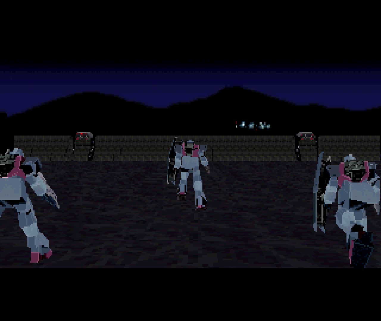 Figure 12 - The 3D graphics in Mobile Suit Gundam Side Story are surprisingly good for the Sega Saturn