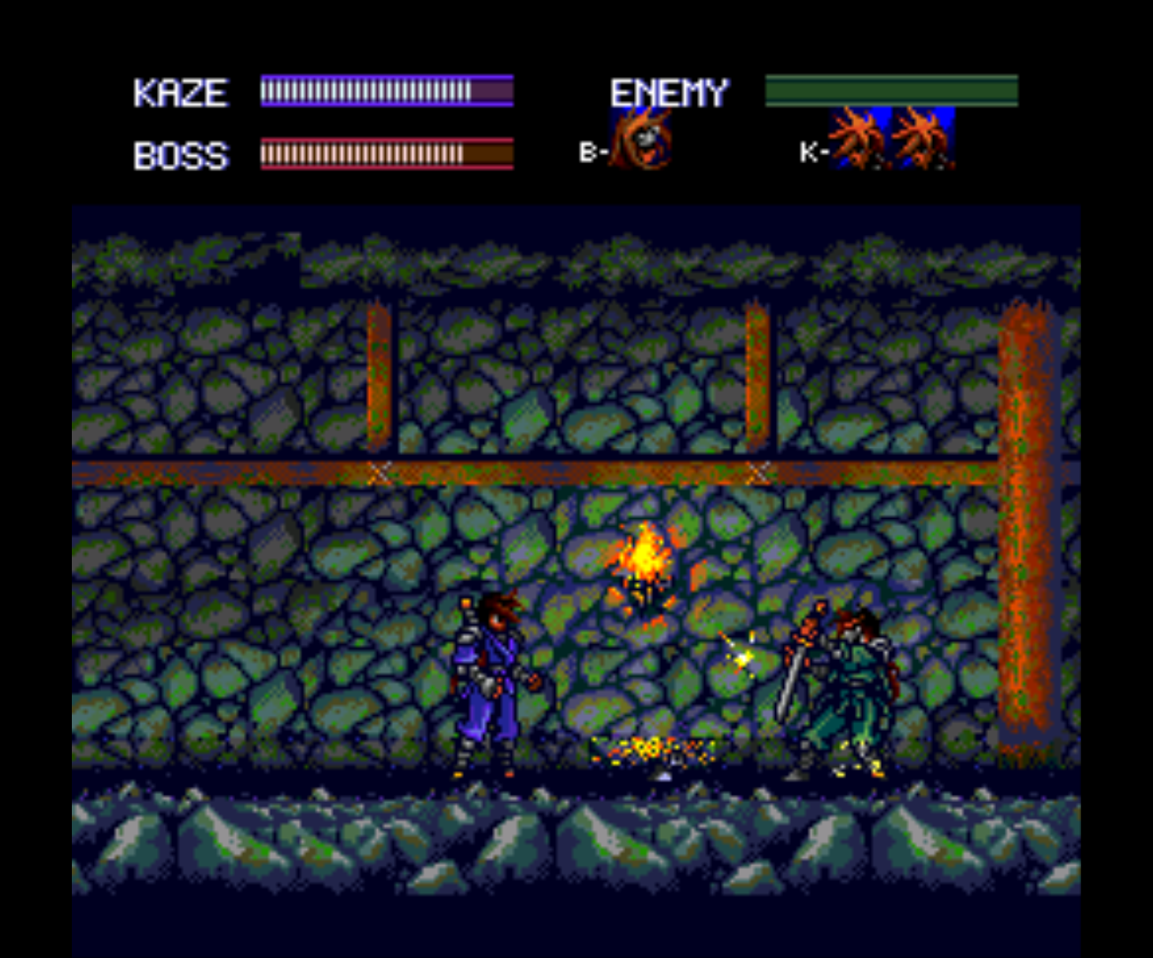 Figure 12 - Bosses can be thrown just like normal enemies but they are stronger