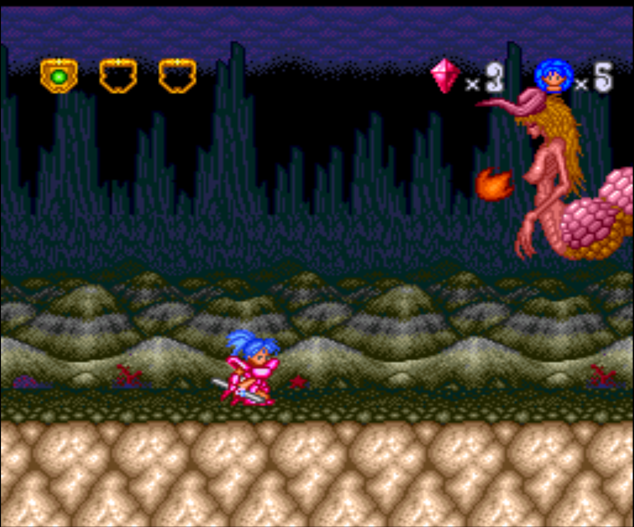 Figure 13 - One of the boss monsters in the game. Most of them can only be beaten with special attacks