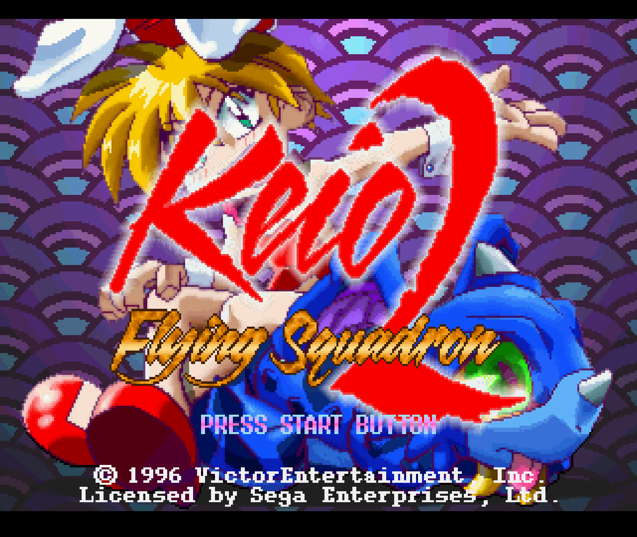 Figure 14 - Keio Flying Squadron 2 for Sega Saturn title screen running on ODROID-XU3