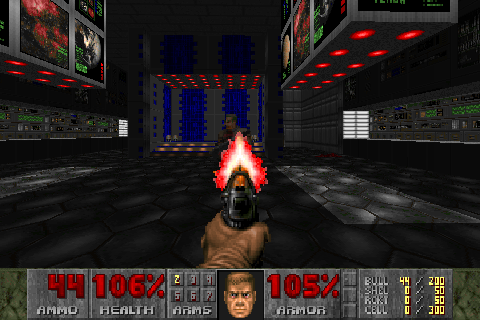 Figure 15 - Classic Doom 1 running in LZDoom on the ODROID-GO Advance