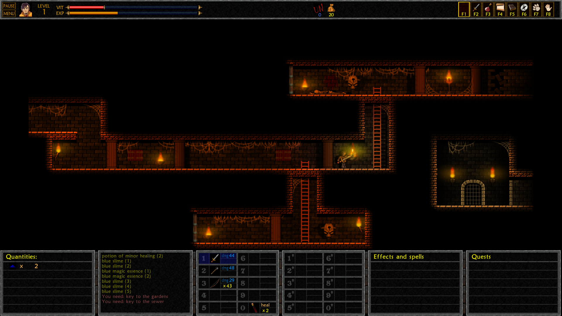 Figure 16 - This dungeon crawler has beautiful graphics and lighting effects
