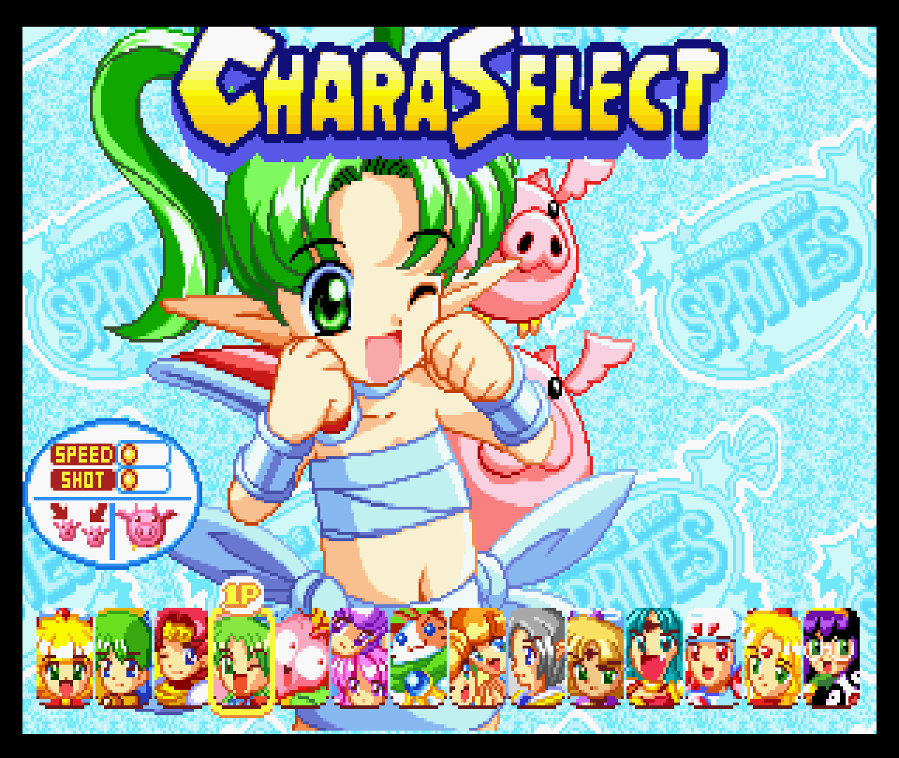 Figure 19 - Twinkle Star Sprites has many different characters to select