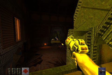 Figure 19 - Quake 2 looks gorgeous on the ODROID-GO Advance and supports high res textures