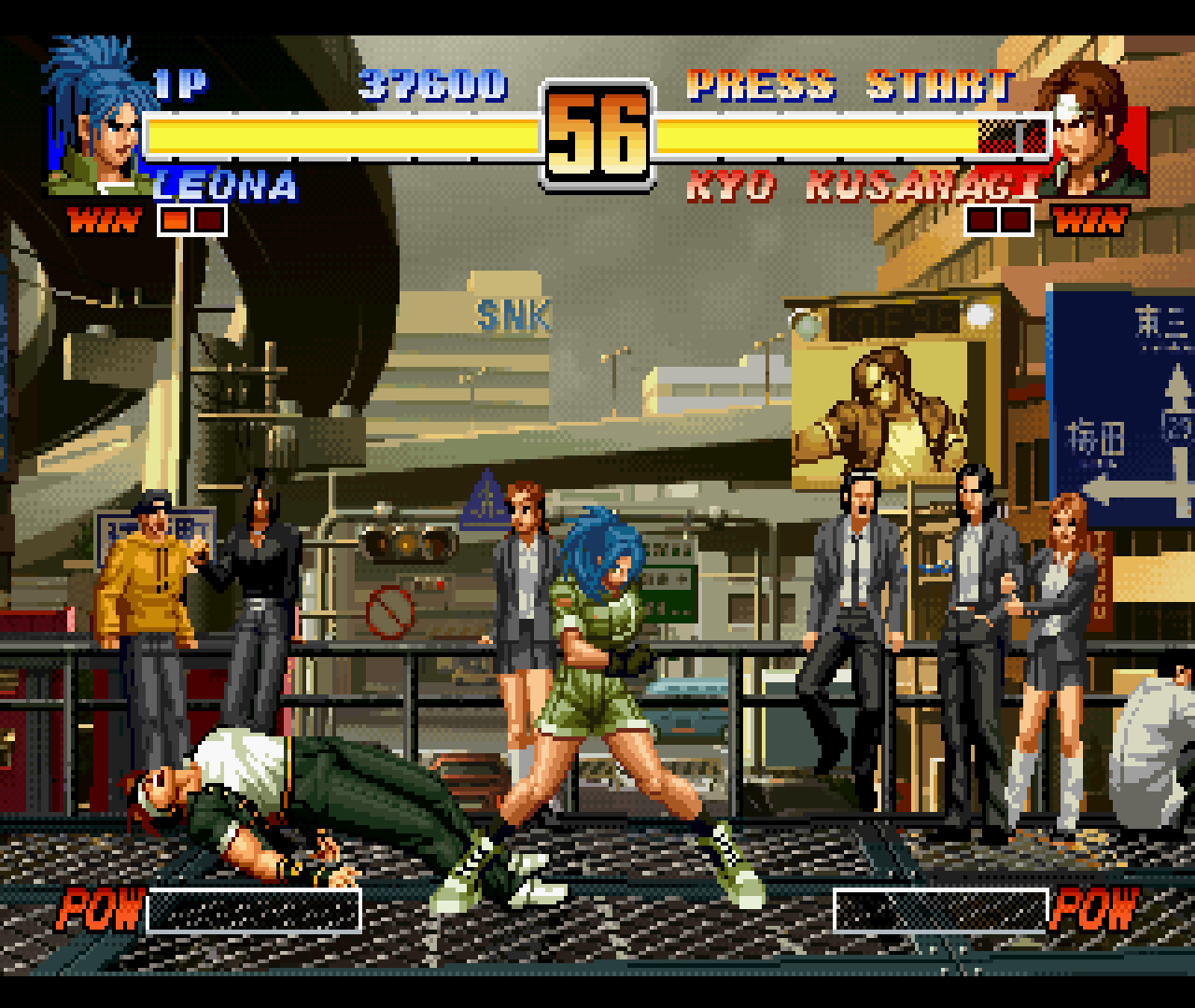 Figure 21 - Beautiful animation for both the fighters and for the background