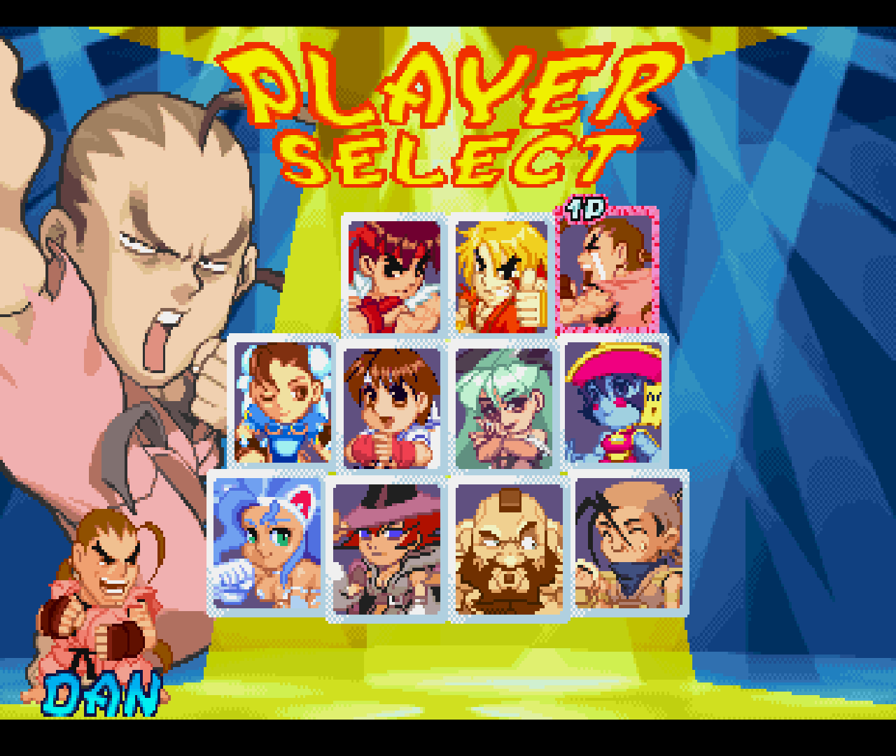 "Figure 22 - Originally you only see three male characters (see picture in the middle) but when you go to the left or right of either Ruy or Ken you'll find two more ""hidden"" characters to choose from"