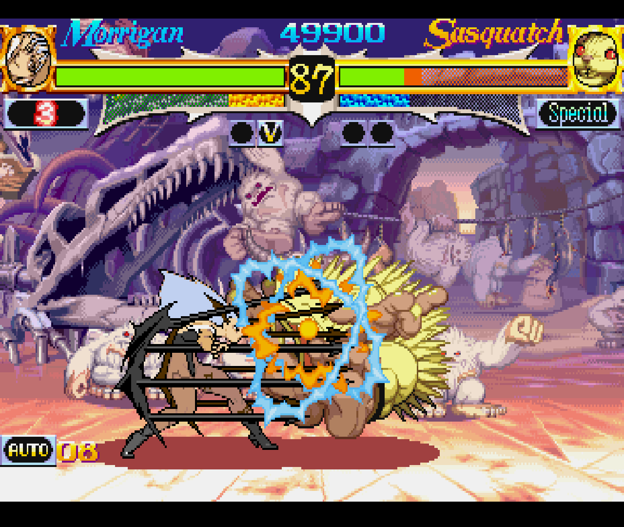 Figure 22 - Vampire Hunter has very beautiful graphics and fast fighting action