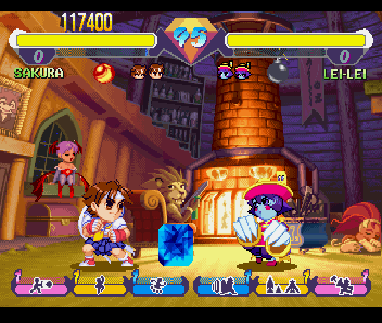 Figure 24 - The gems you earn from fighting give the game its second name: Super Gem Fighters